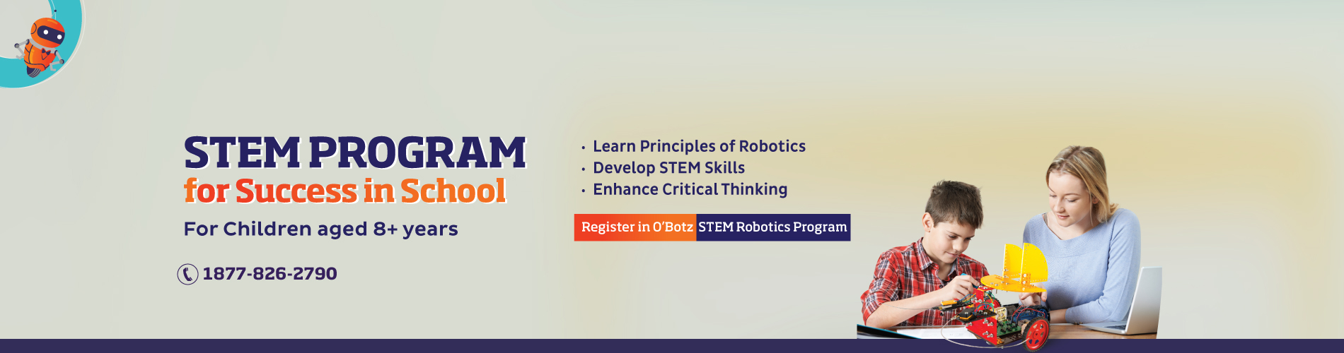 O'Botz Robotics Courses based on STEM Program Learning are great for kids