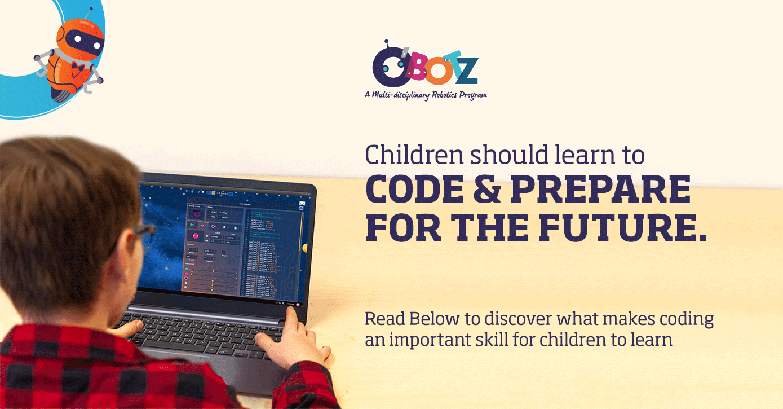 O'Botz STEM-based Robotics for kids course develops excellent coding skills in children.